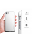 Чехол накладка Spigen, Thin Fit, серебристая, на iPhone 7