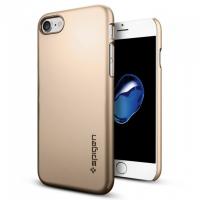 Чехол накладка Spigen Thin Fit золотой на iPhone 7 — Тонкая 0.3 мм