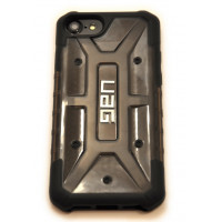 Чехол противоударный UAG чёрный на iPhone 7 — Прозрачный