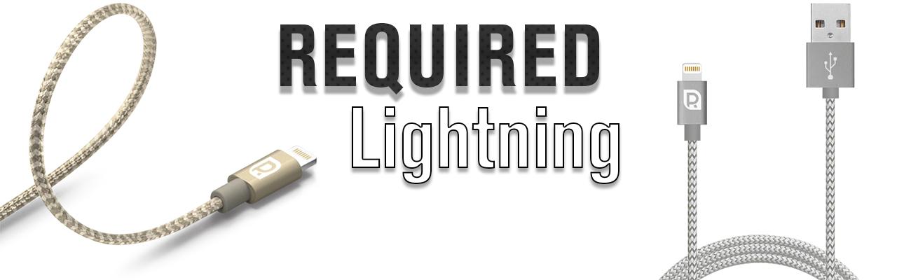 Кабель Lightning REQUIRED Braided MFI, серый космос