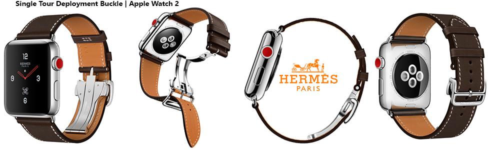 Ремешки Hermes Single Tour Deployment Buckle для Apple Watch 2