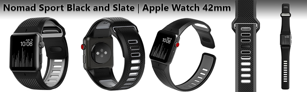 Ремешки Nomad Sport Black and Slate для Apple Watch 3