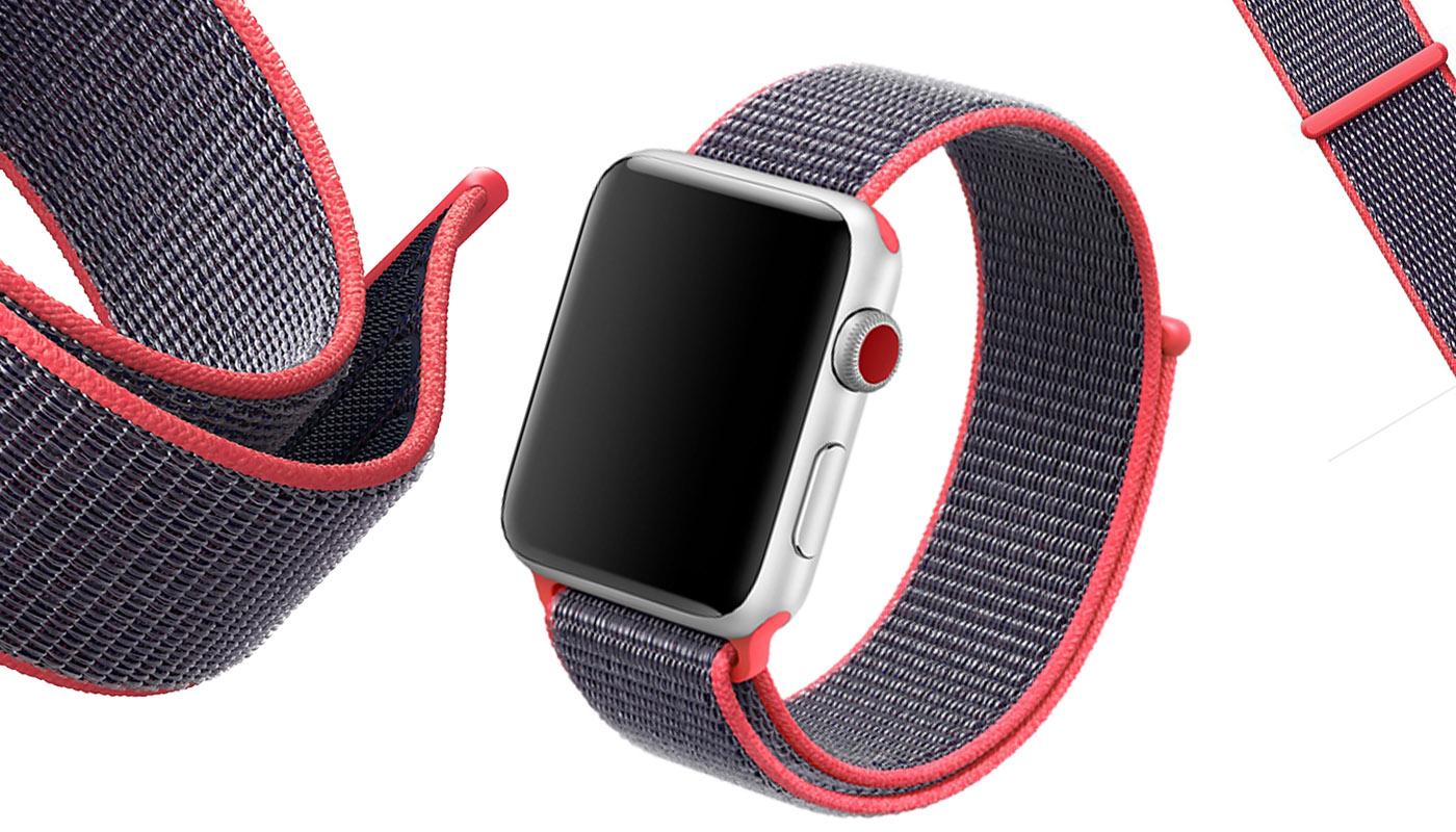 Ремешок для Apple Watch, 42mm, красный, Special case Nylon Sport