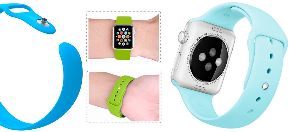 Спортивный, бирюзовый ремешок Special Case, для Apple Watch, 42mm