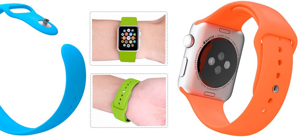 Спортивный, оранжевый ремешок Special Case, для Apple Watch, 42mm