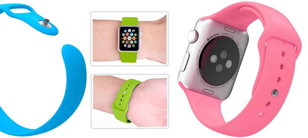 Спортивный, розовый ремешок Special Case, для Apple Watch, 42mm