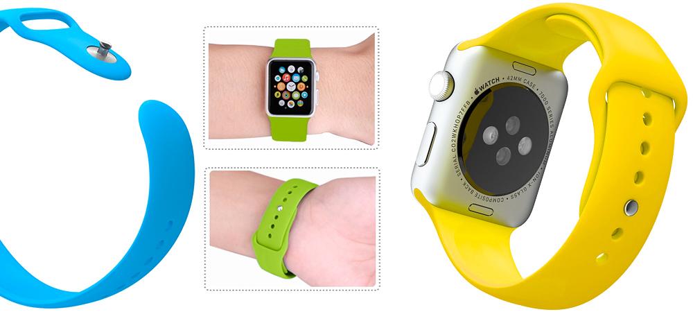 Спортивный, жёлтый ремешок Special Case, для Apple Watch, 42mm