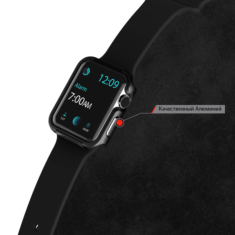 Чехол X-Doria, Defense Edge, чёрный, для Apple Watch, 42mm