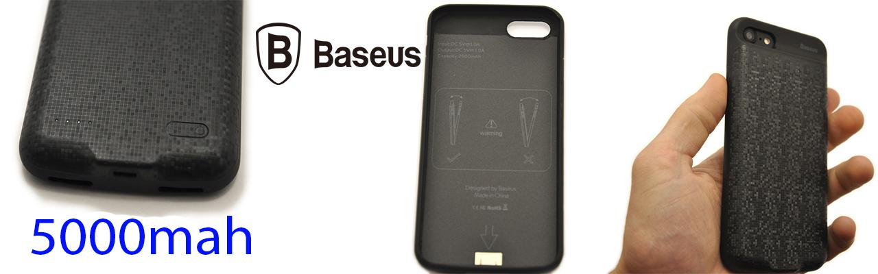 Чехол аккумулятор Baseus чёрный на iPhone 8 — 5000mah