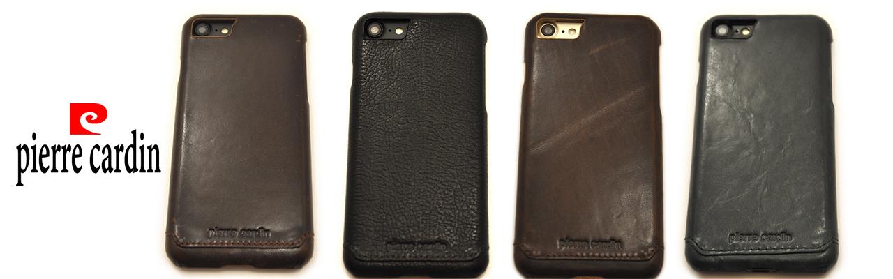 Чехлы накладки кожаные, элитные Pierre Cardin на iPhone 8