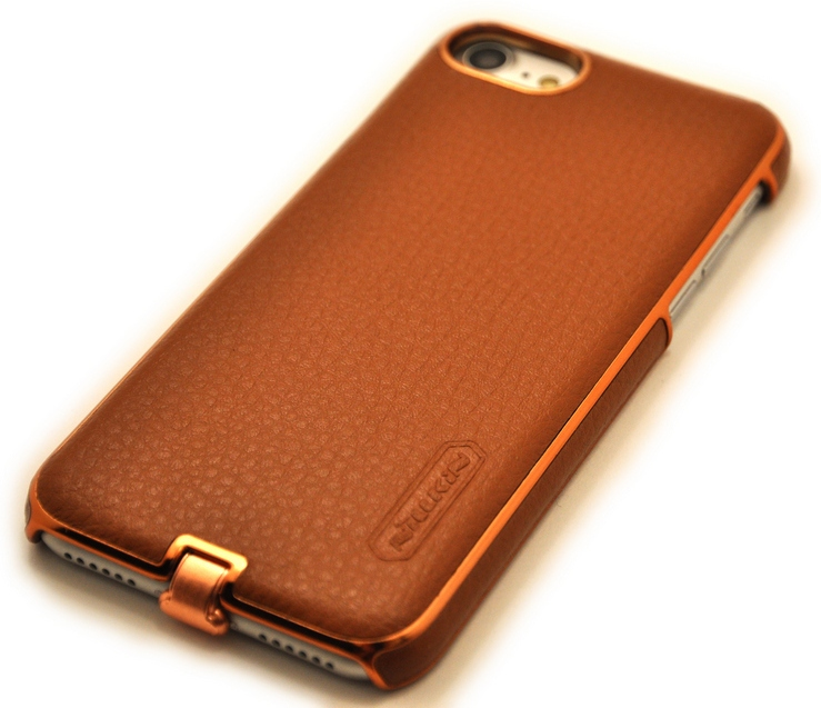 Чехол для беспроводной зарядки Nillkin N-Jarl Коричневый на iPhone 8