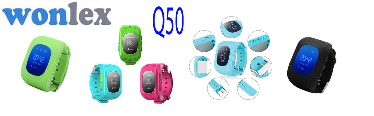 Детские часы с GPS трекером Wonlex Q50 зеленые