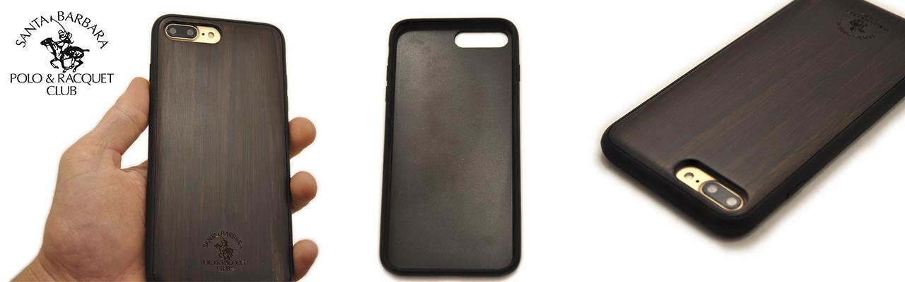 Чехол накладка деревянная POLO & RACQUET CLUB Падук на iPhone 7 Plus