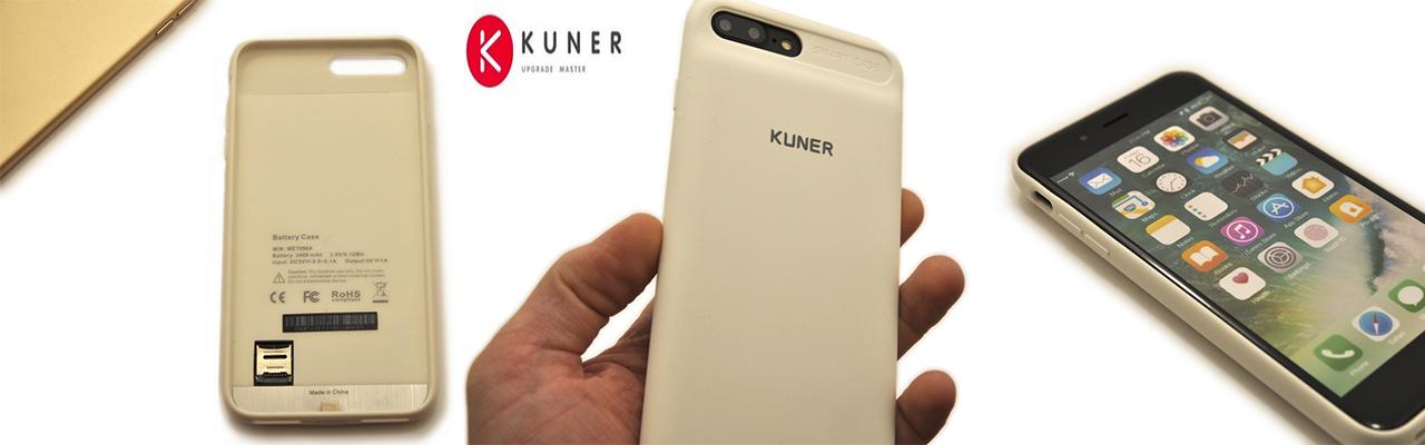 Чехол аккумулятор Kuner Kuke белый на iPhone 7 Plus