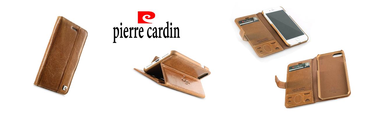Чехол книжка Pierre Cardin Чёрная на iPhone 7 Plus