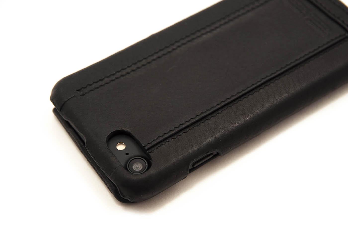 Чехол кожаный Pierre Cardin flip чёрный для iPhone 7