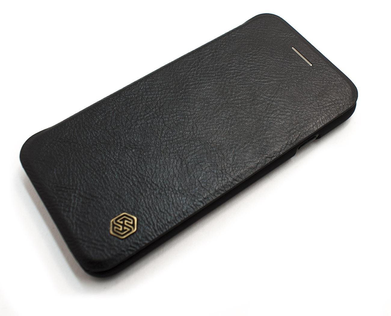Чехол книжка NILLKIN, QIN, чёрный, для iPhone 7