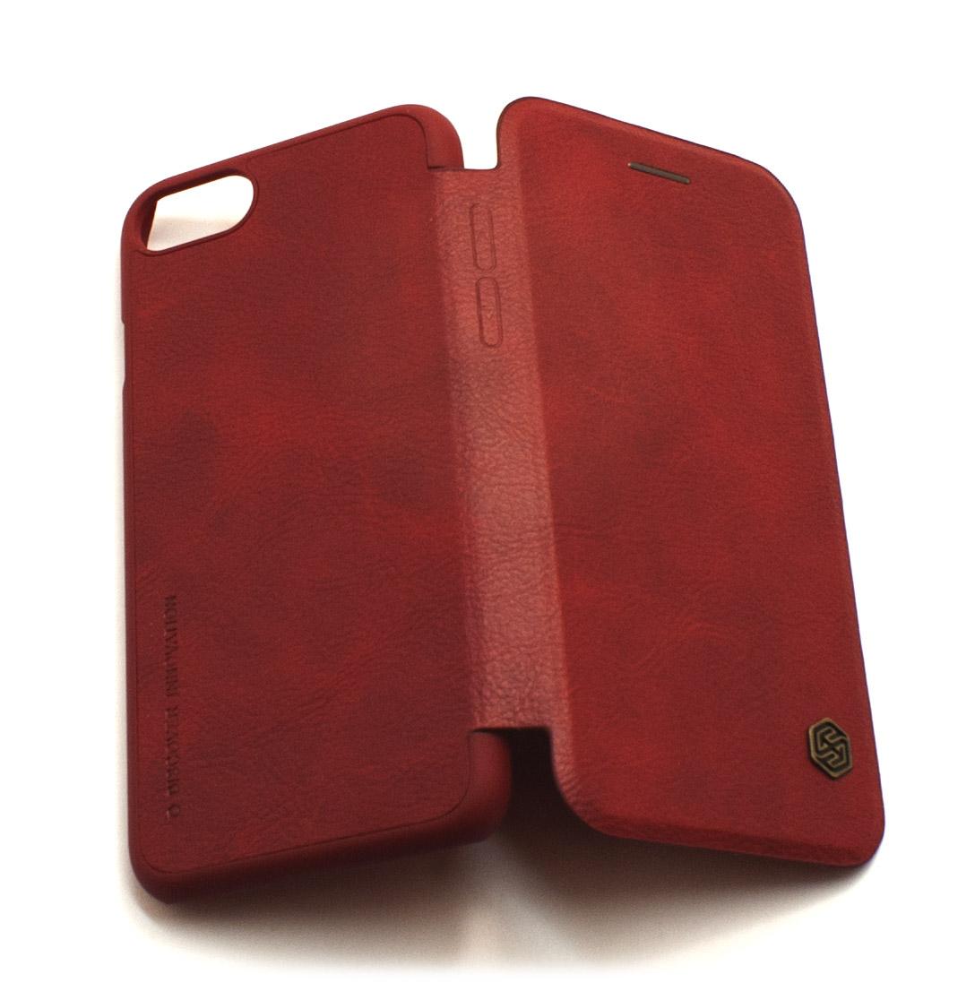 Чехол книжка Nillkin, Qin, красный, для iPhone 7
