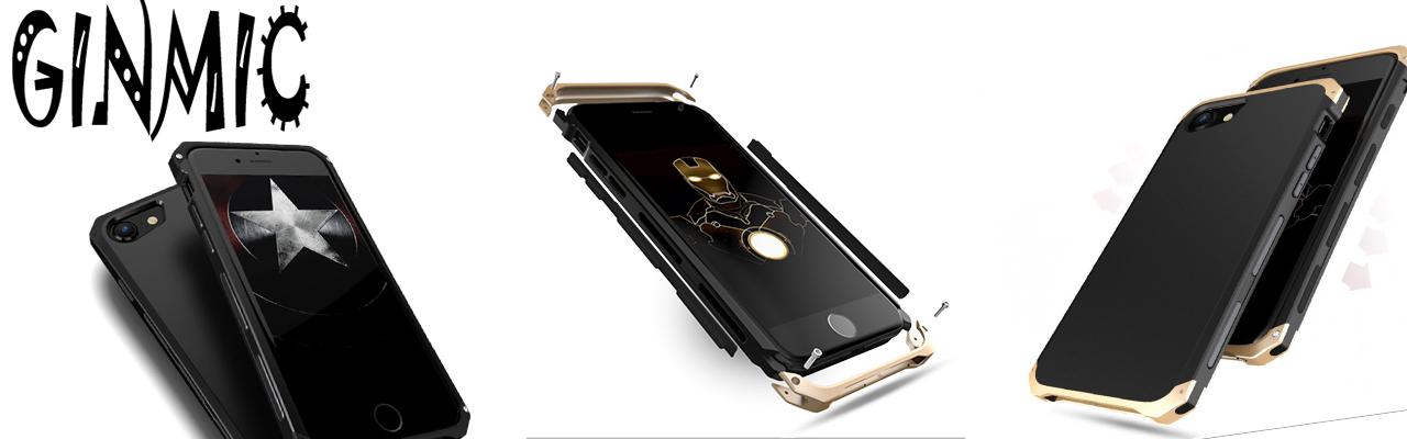 Чехол противоударный Ginmic Solies чёрный для iPhone 8 Plus
