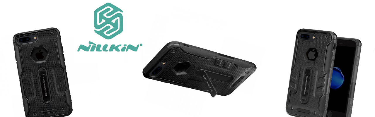 Чехол противоударный Nillkin Defender 4 чёрный на iPhone 7 Plus
