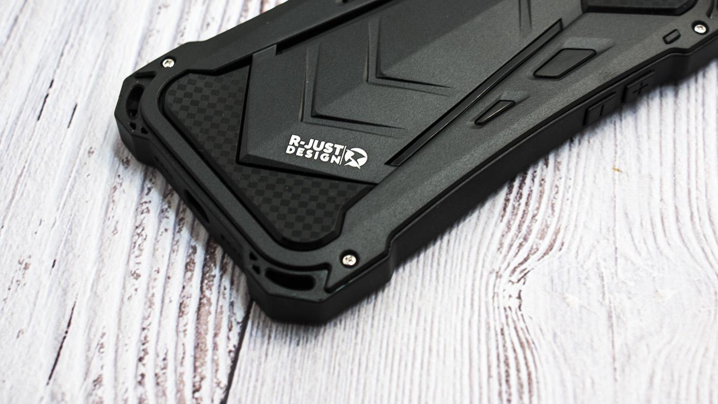 Чехол противоударный R just, Armor, чёрный, для iPhone 8