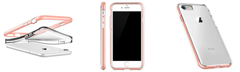 Чехол клип кейс, VRS Design New Crystal, розовый для iPhone 8