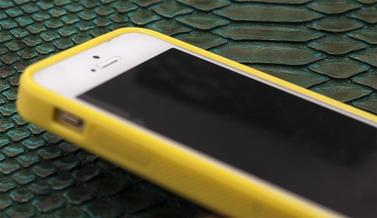 Чехол накладка, кожаный, жёлтый Gera Хамелеон для iPhone SE
