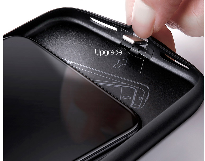 Чехол аккумулятор Baseus, Ultra Ultra Slim, чёрный, для iPhone X