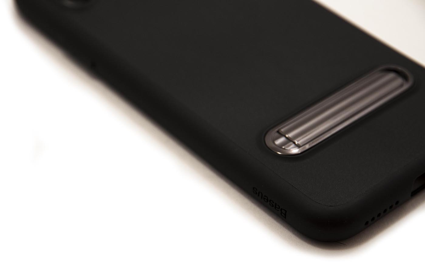 Чехол силиконовый, чёрный Baseus Happy Watching Case для iPhone X