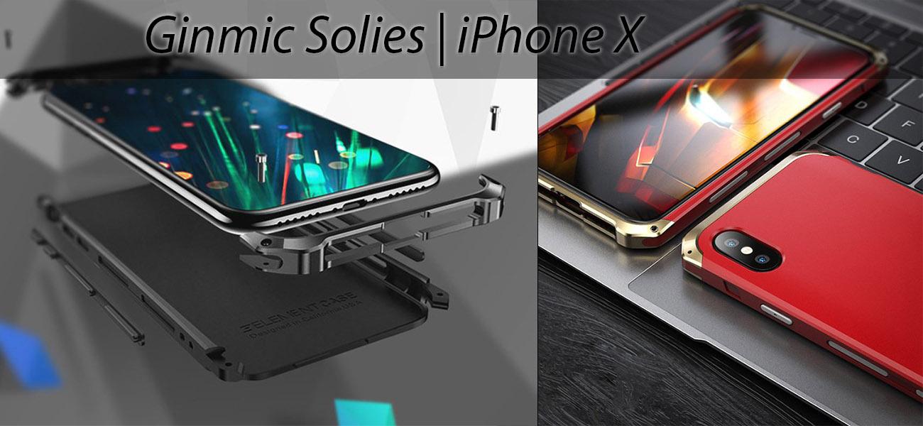 Чехол, противоударный Ginmic, Solies, красный, для iPhone X