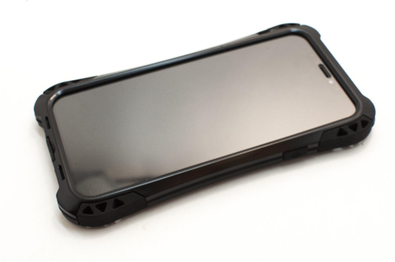 Чехол противоударный R just, Amira, чёрный, для iPhone X