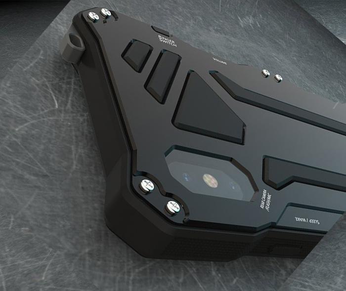 Чехол, противоударный R Just Gundam, Three Proof, чёрный | для iPhone X