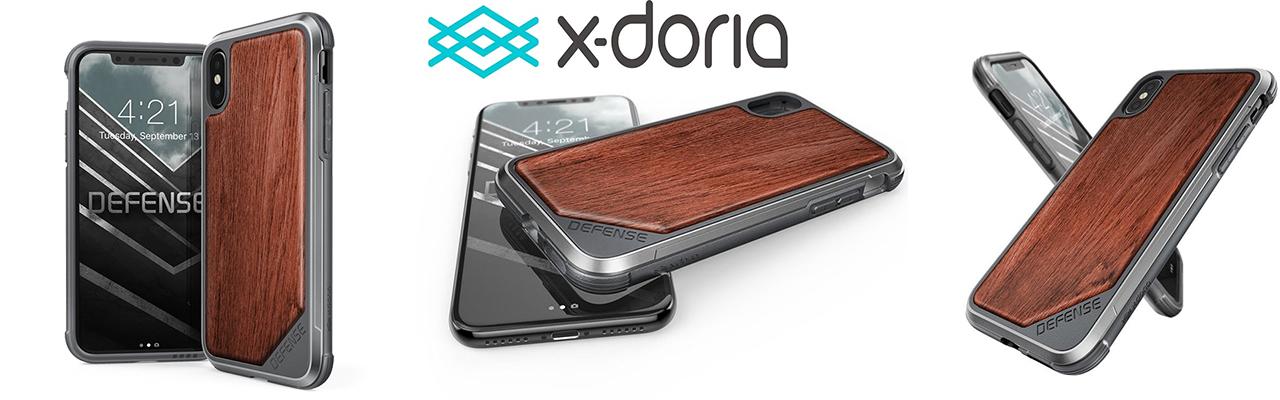 Чехол премиум X-Doria Defence Rose Wood Lux для iPhone X — Противоударный