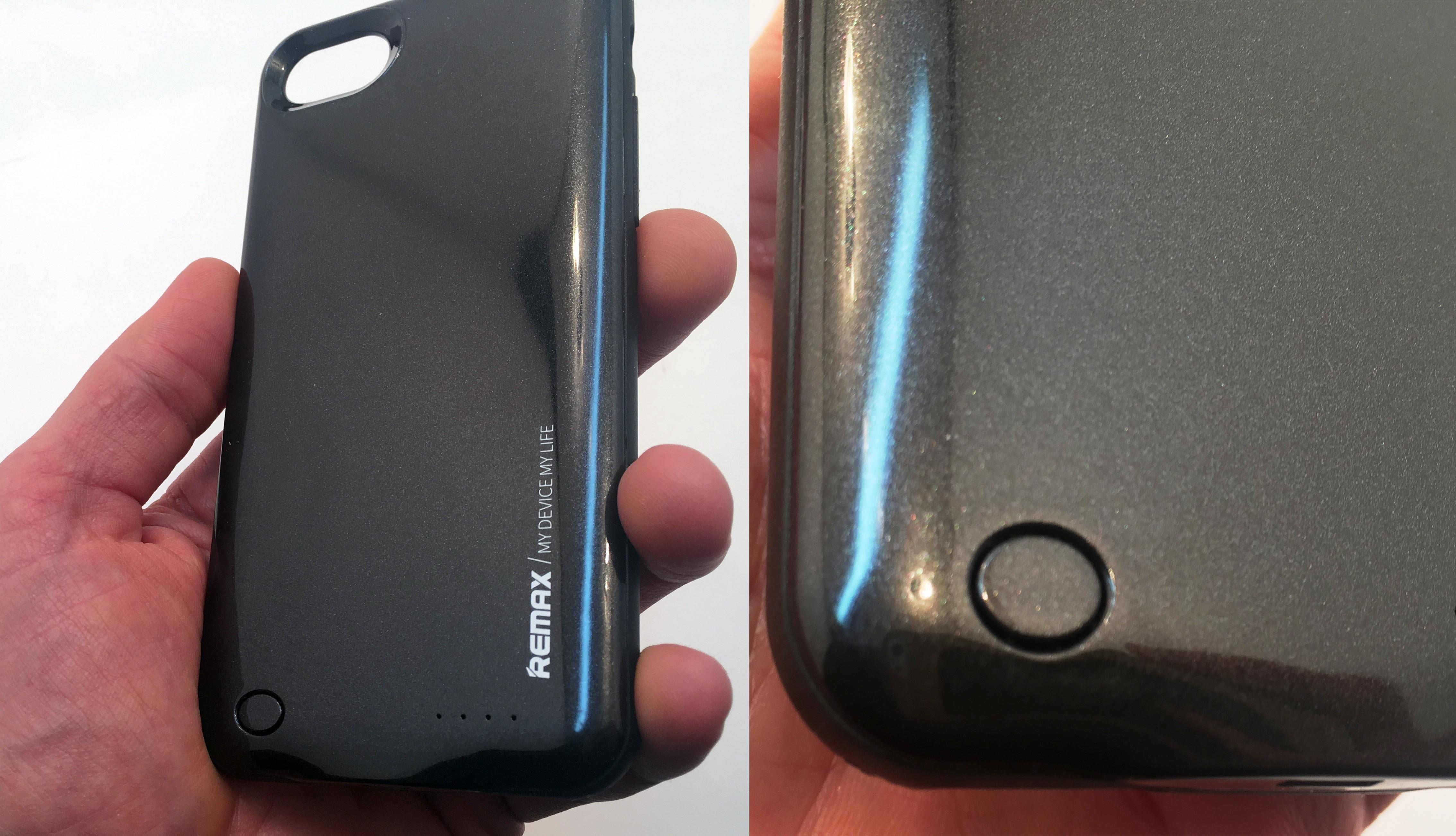 Чехол аккумулятор Remax, чёрный, кнопка вкл и выкл
