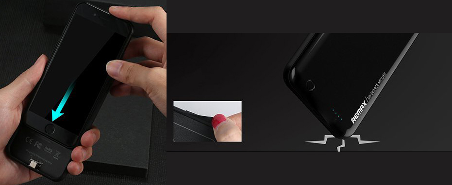 Чехол аккумулятор Remax, чёрный, особенности