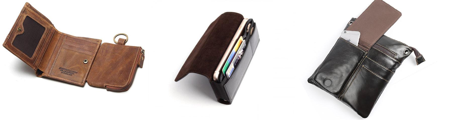 Дополнительные отсеки чехла-кобуры для телефона