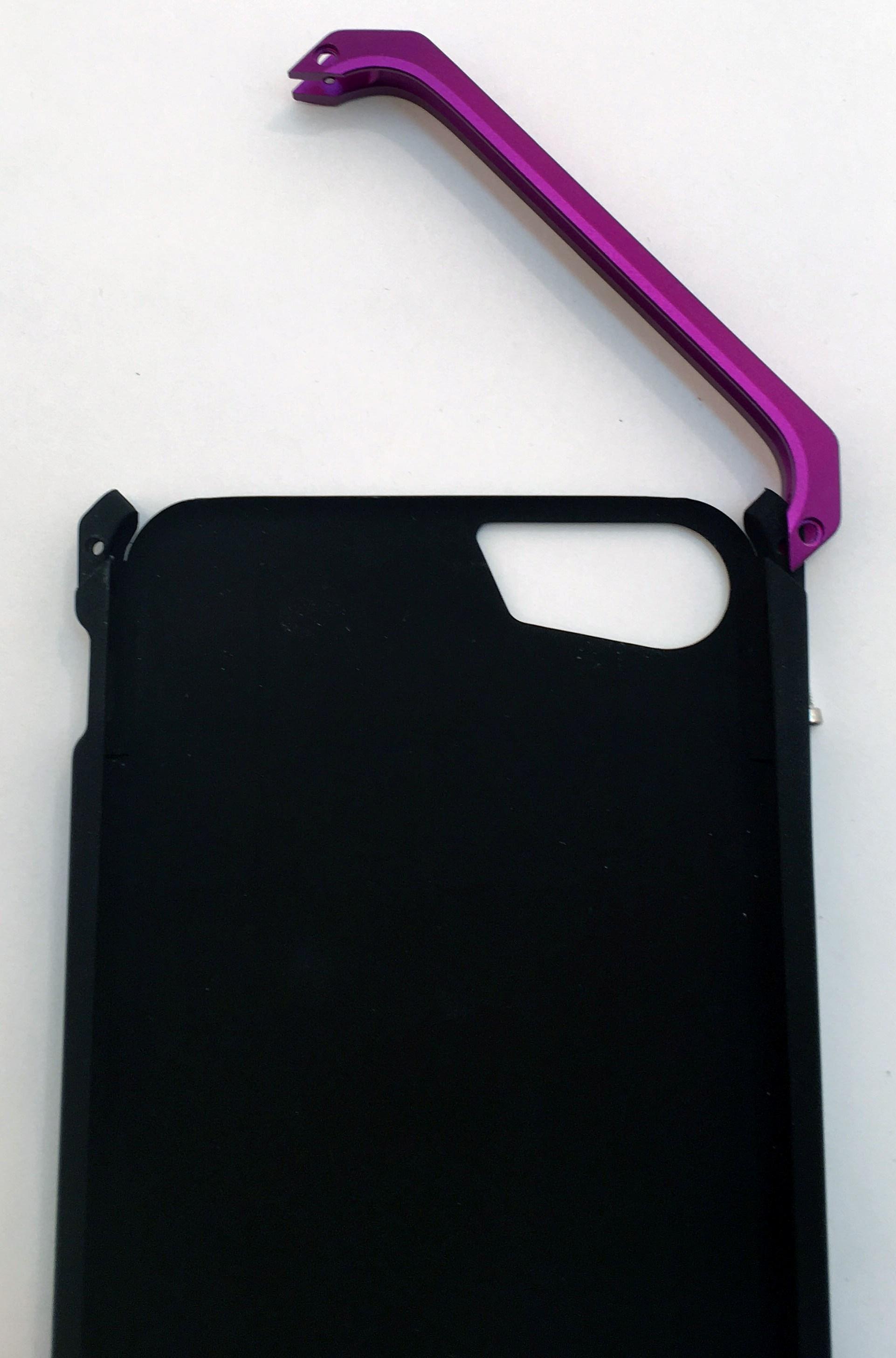 Чехол противоударный Ginmic Solies, чёрно-розовый, металл снят
