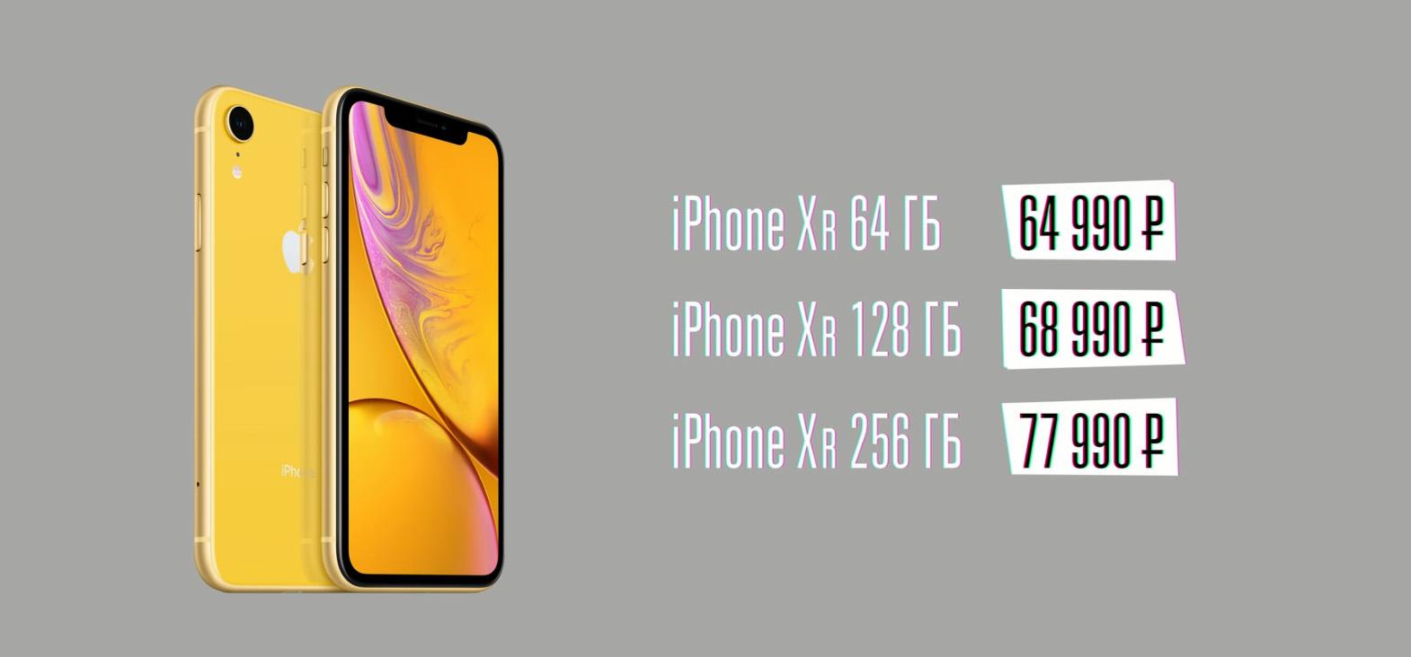 Обзор iPhone XR — Цена