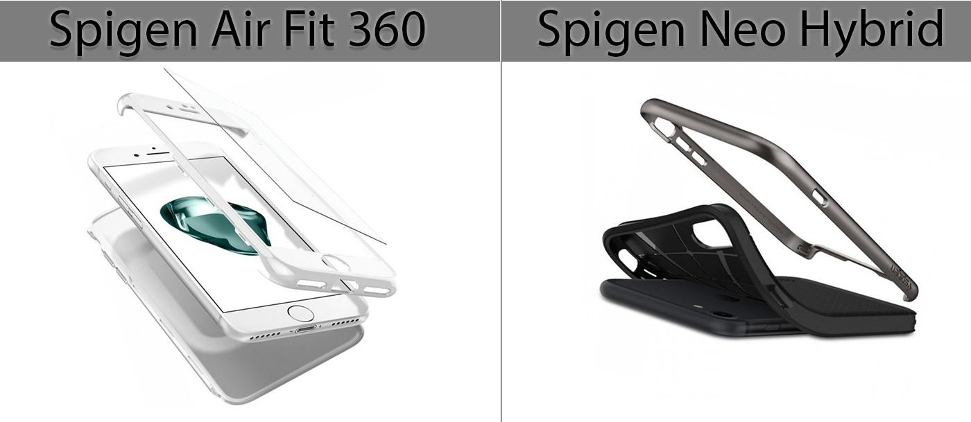 SPIGEN Air Fit 360 и Neo Hybrid