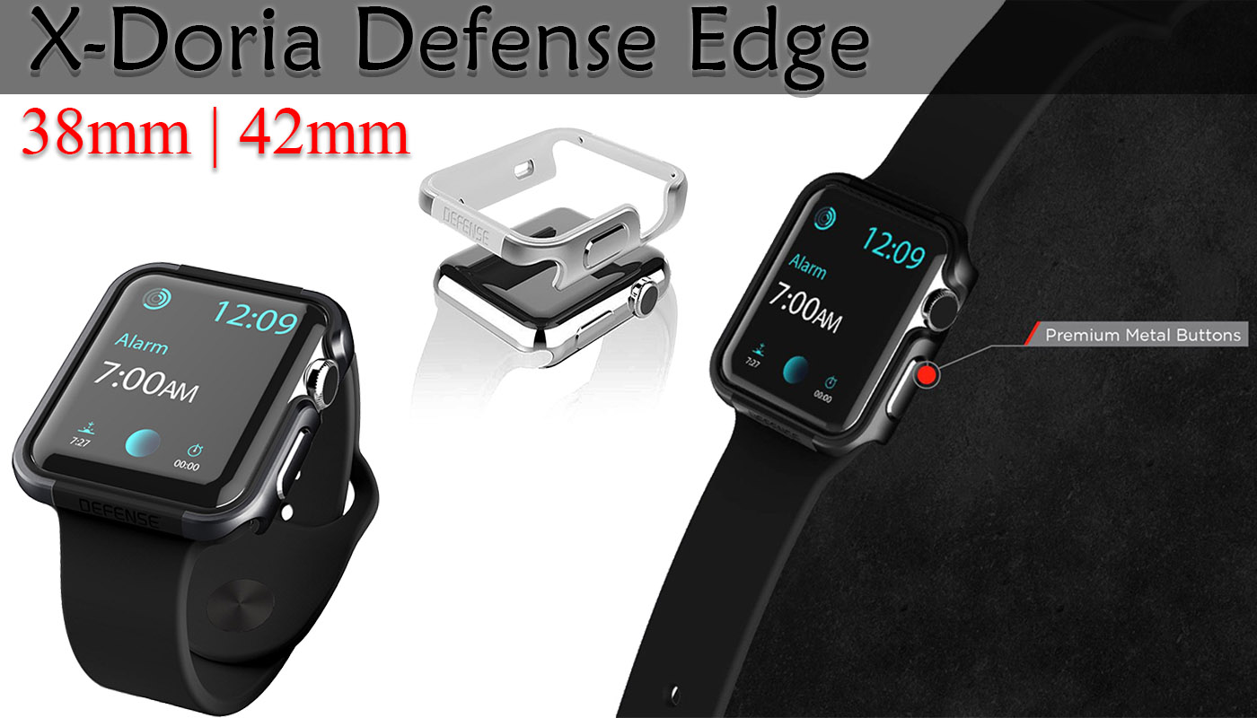 Apple watch case, X-Doria, defense edge